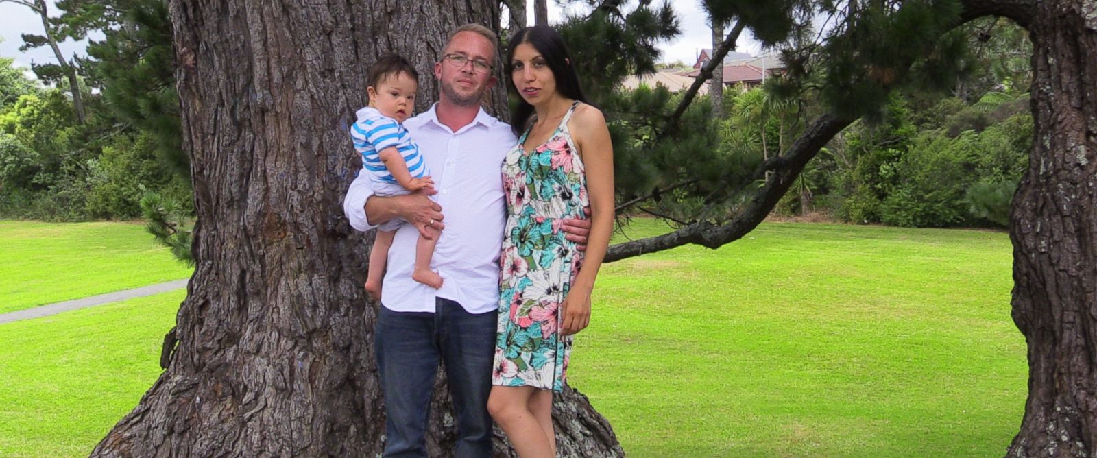 PHOTO: Samuel, Ruzan and Leo Forrest pose in a recent family photo in Auckland, New Zealand.