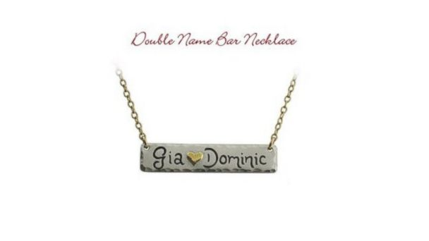 PHOTO: The double name bar necklace