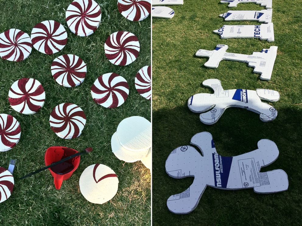 PHOTO: Using Mostly Foam Board, McConnell Assembled And Painted The  Decorations On Her Parents