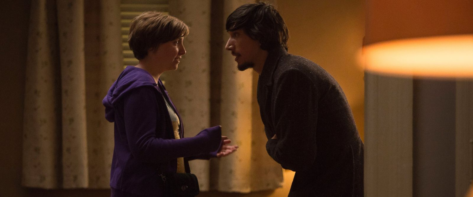 PHOTO: Lena Dunhams character Hannah on HBOs Girls argues with her boyfriend Adam (played by Adam Driver).