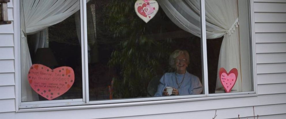 Waving Grandma Gets Valentines Day Surprise From Local High