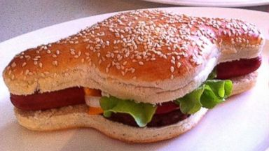 PHOTO: The Hamdog is seen in this Facebook photo. Mark Murray, of Perth, Australia, is marketing the Hamdog, a combination hot dog and hamburger with a custom-made bun to fit the dishs odd shape.