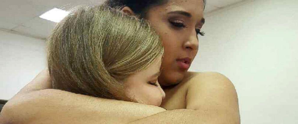 PHOTO: Monique Salina, 15, meets Aubrey at her March 5 quinceanera in Benavides, Texas.