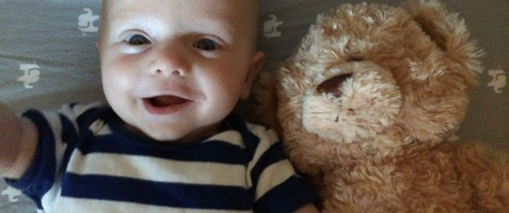 PHOTO: Henry David Knutson and his teddy bear are the stars of a viral video.