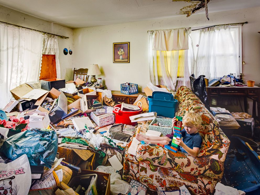 PHOTO: Geoff Johnson photographed what its like growing up in a hoarders house.