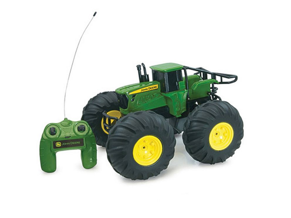 PHOTO: John Deere Monster Treads Radio Control Tractor is available online at johndeeregifts.com and at toy retailers nationwide.