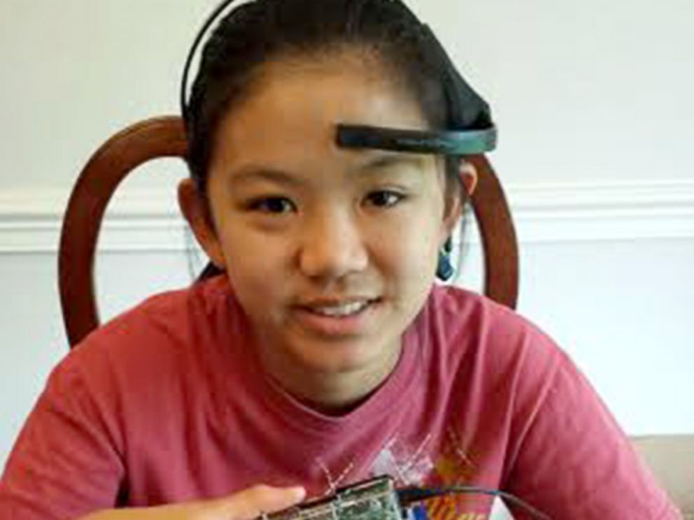 PHOTO: Katherine Wu, 13, created a device that she hopes could prevent drivers from falling asleep at the wheel.
