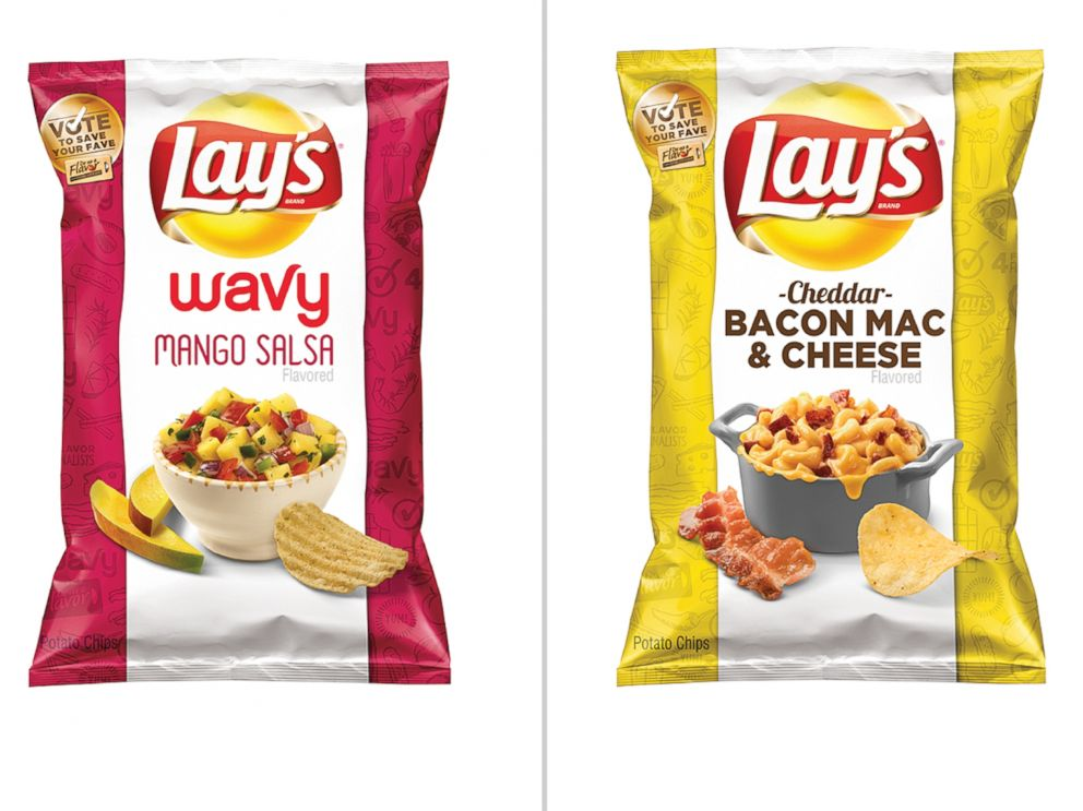 PHOTO: Lays announced the announced the four finalist flavors in its Lays Do Us A Flavor contest, two of which are pictured here.