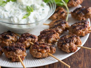 PHOTO: Chef Michael Symons lazy meatball kebab