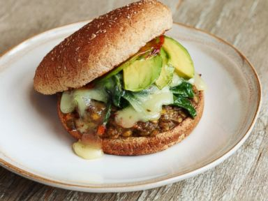 PHOTO: Lea Micheles recipe for a Veggie Lentil Burger.
