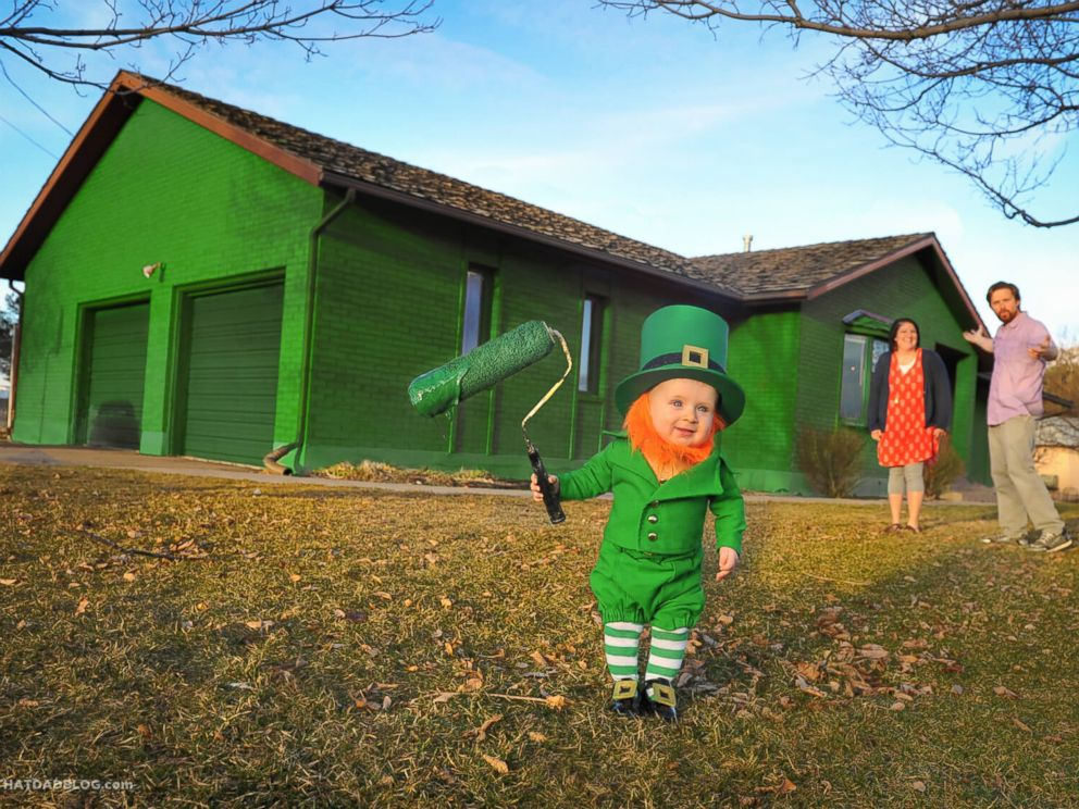 PHOTO: Dad blogger Alan Lawrence dressed his son Rockwell up as a real-life leprechaun.