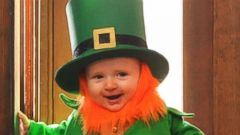 Dad Photographs MonthOld Son As RealLife Leprechaun ABC News - Dad turns his 6 month old son into real life leprechaun for st patricks day