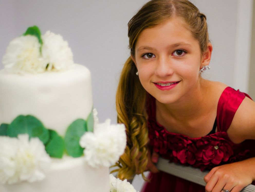PHOTO:The wedding cake baker, a 12-year-old girl, is also on the spectrum.