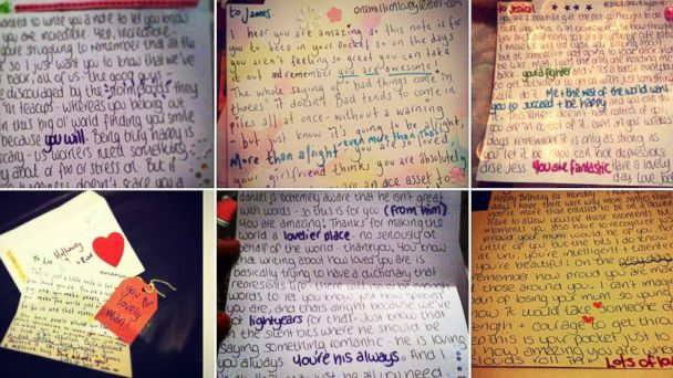 HT letters jef 140512 16x9 608 Woman Pens More Than 3,000 Handwritten Notes to Strangers