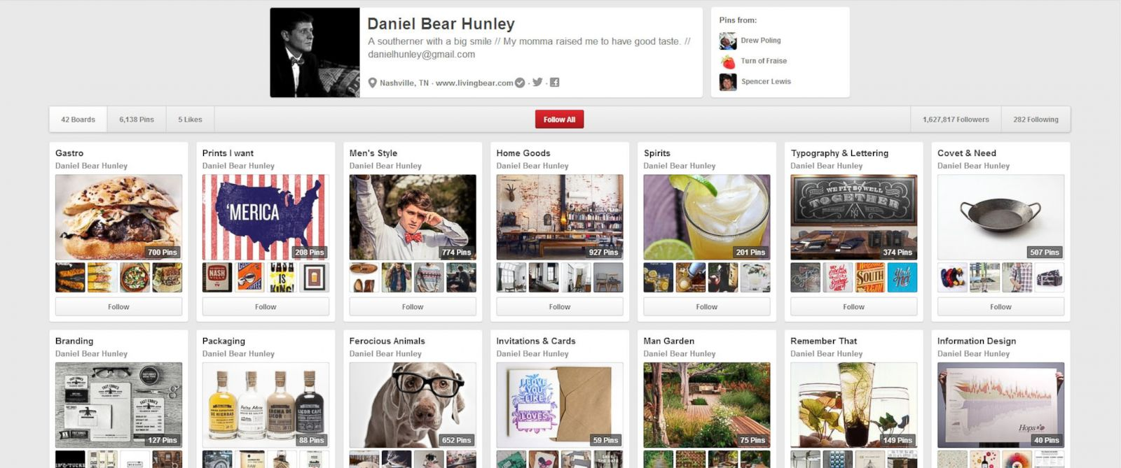 PHOTO: Daniel Hunleys Pinterest page.
