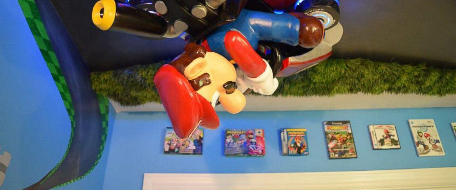 Mario Bedroom Decor North Carolina Dad Builds Amazing Mario Kart Themed Nursery For