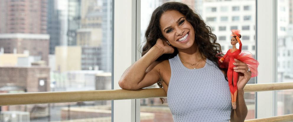 PHOTO: Misty Copeland poses with the Misty Copeland Barbie in this undated photo.