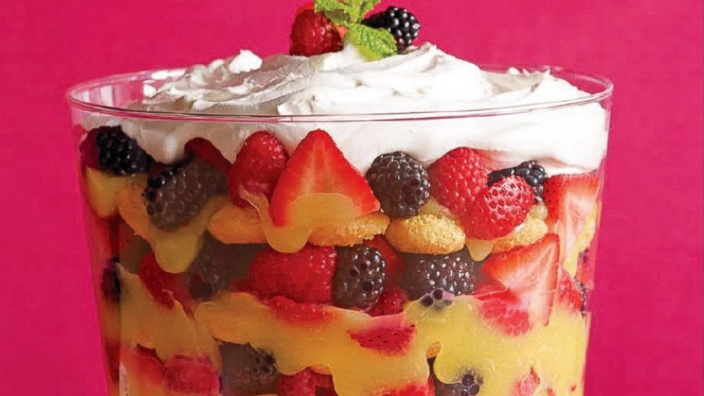 Mixed Berry Trifle Recipe | Clinton Kelly | Recipe - ABC News
