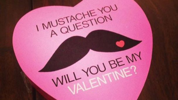 PHOTO: Mustache Valentines Chocolates.