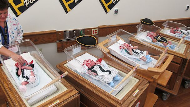 HT newborns pirates nt 131003 16x9 608 Hospital Dresses Up Newborns as Pirates to Celebrate Pittsburgh Win