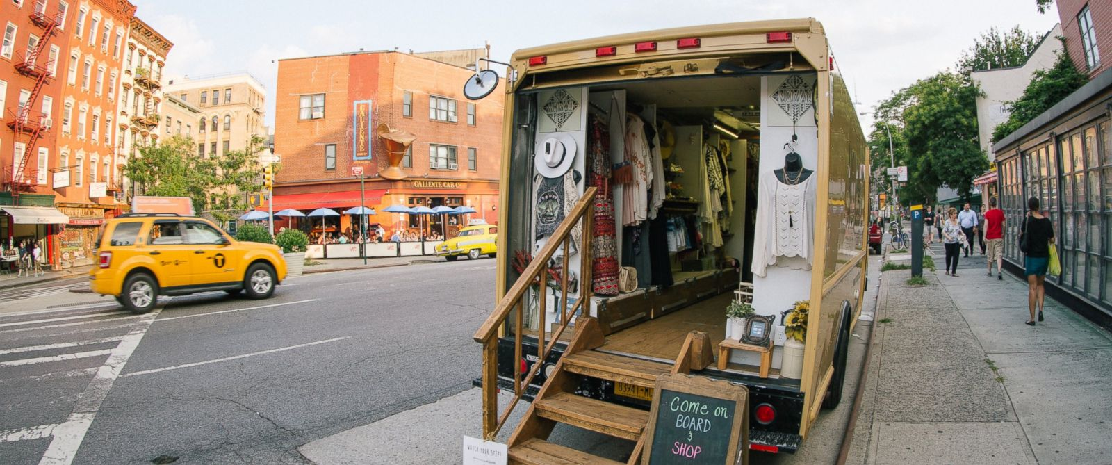 PHOTO: The Nomad fashion truck parks on NYC streets selling bohemian-style clothing for under $100.