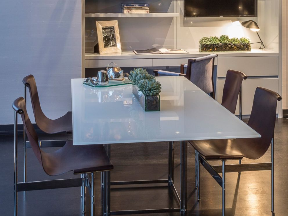 PHOTO: View of the living area of a model apartment in the luxurious One57 building in New York City.