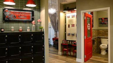 PHOTO: During the offseason, the Reds partnered with Pampers and local homebuilder Fischer Homes to create what we believe is the first ever dedicated suite at a ballpark built exclusively as a quiet place for moms to feed and care for their babies.