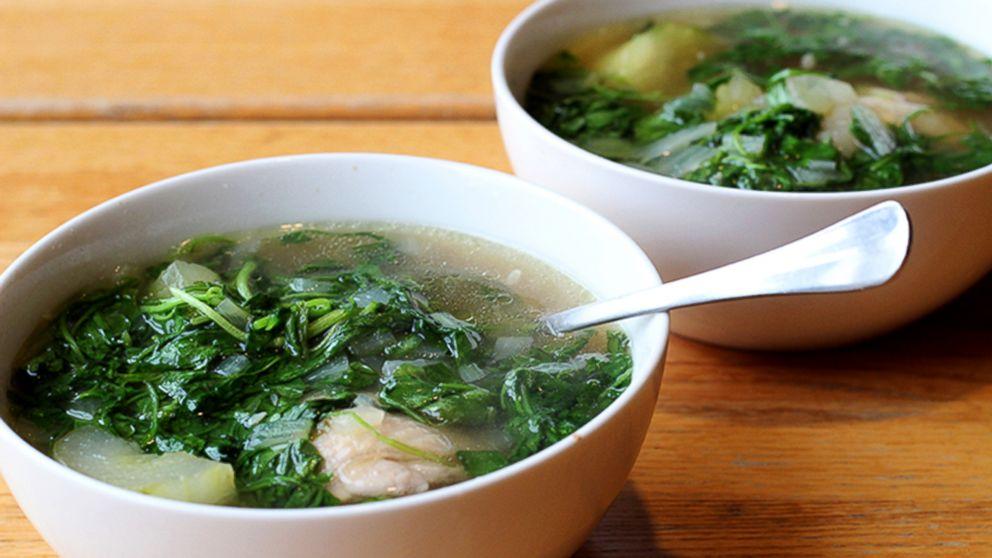 Tinola Filipino Chicken Soup With Watercress And Chayote Squash Recipe Paul Qui Recipe Abc News