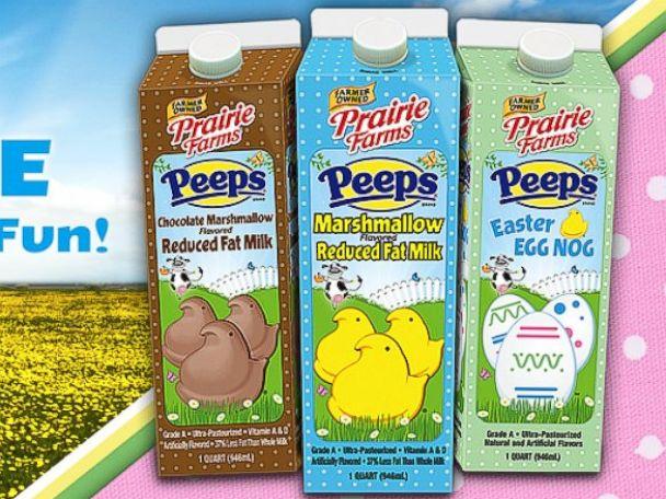 PHOTO: The new Prairie Farms Peeps-flavored milk.