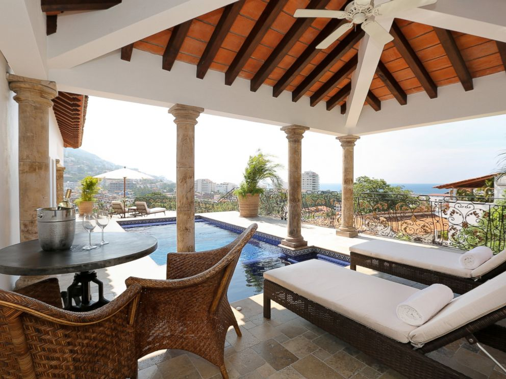 PHOTO: The pool at Casa Kimberly overlooks the city of Puerto Vallarta, Mexico.