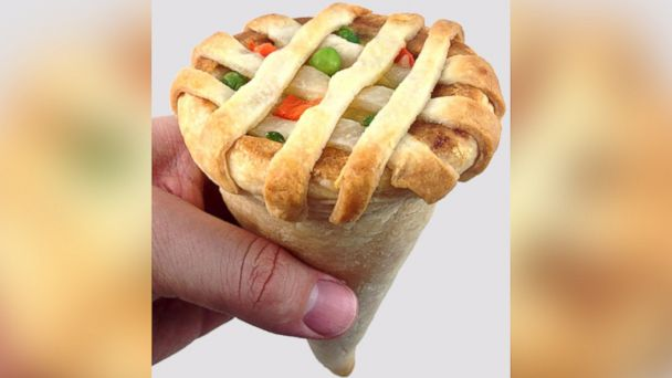 HT pot pie cone jef 140423 16x9 608 Chicken Pot Pie Cone Eliminates Need for Fork and Knife