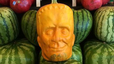 PHOTO: California farm owner Tony Dighera grows organic pumpkins that bear an uncanny resemblance to Frankenstein.