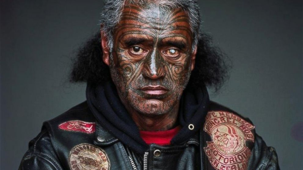 Stunning Portraits Of Members Of The Mighty Mongrel Mob Photos Abc News