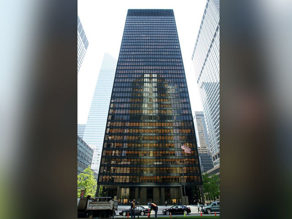 PHOTO: The Seagram building in New York City where Scrooged was filmed.
