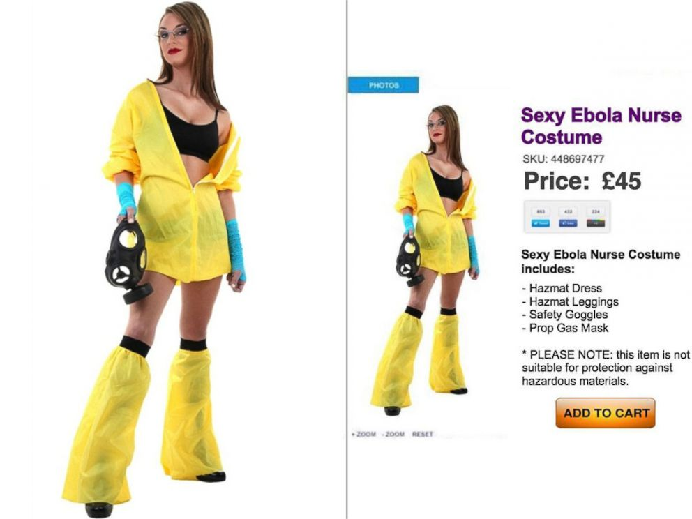 PHOTO: At left, the Sexy Breaking Bad costume, at right, Sexy Ebola Nurse listing