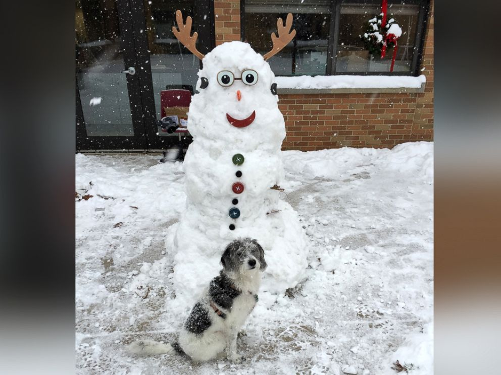 PHOTO: Burchanowski built a snowman with Reyes and snapped a photo.