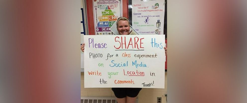 PHOTO: Michele Van Bibber gave her class a lesson in posting to social media.