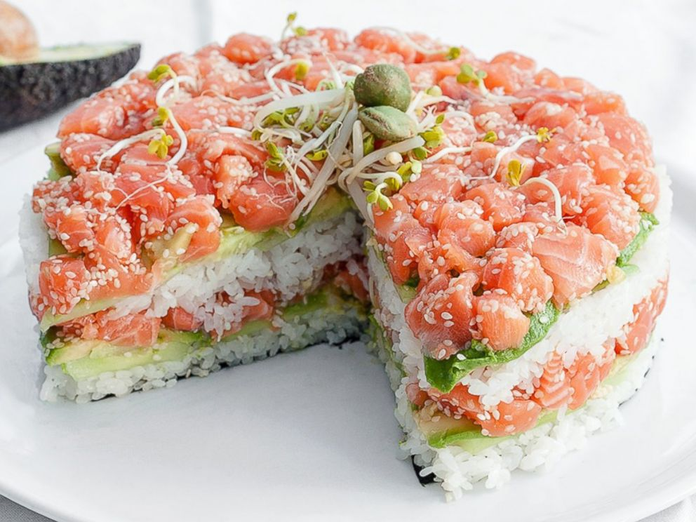 PHOTO: The salmon-based Sushi Cake, by Now Im A Cook!