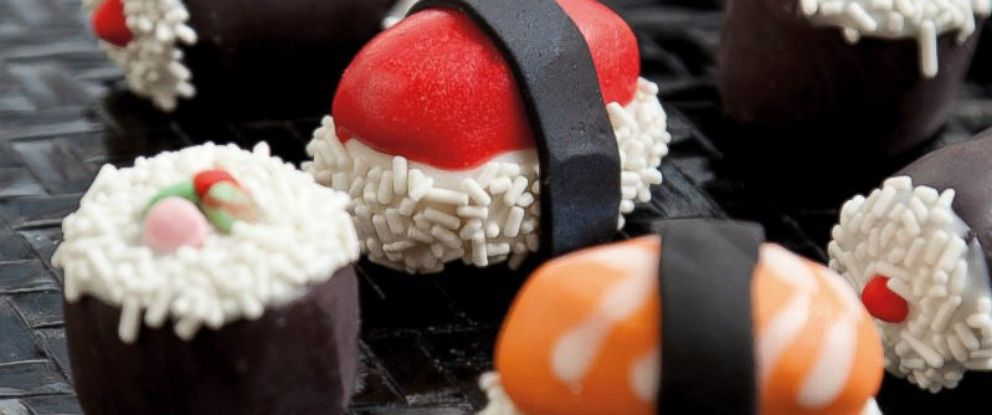 "PHOTO: Sushi Cake Truffles, from the book ""Crazy For Cake Pops,"" by Molly Bakes."
