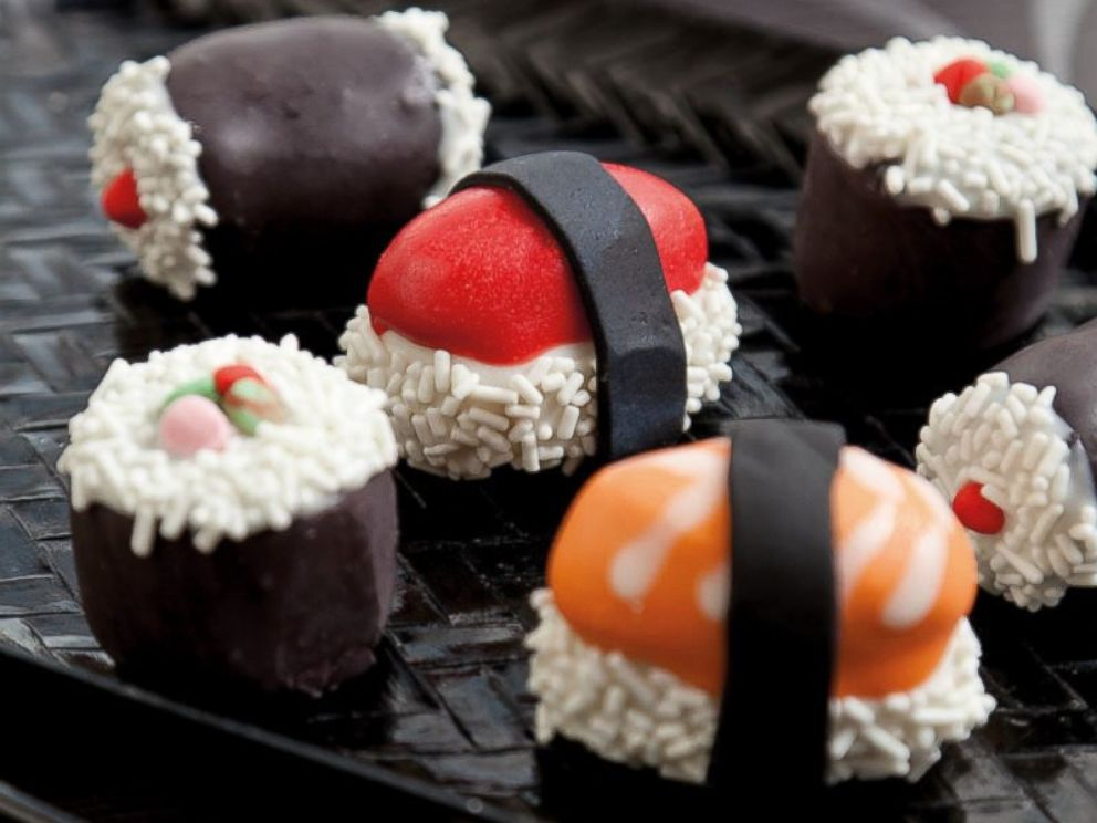 PHOTO: Sushi Cake Truffles, from the book Crazy For Cake Pops, by Molly Bakes.