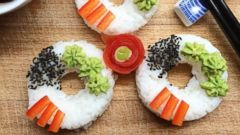 PHOTO: Food blogger Mairi Rivers, of Northern Ireland, got in on the latest foodie craze: the sushi donut.
