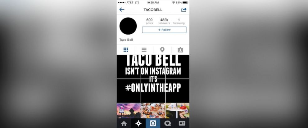 PHOTO: Taco Bell restarted all its social media for the announcement of its new mobile ordering app.