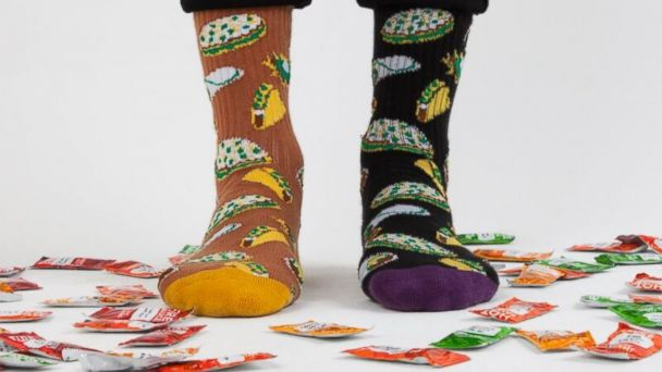 PHOTO: Taco Bell socks by The Hundreds is seen here.