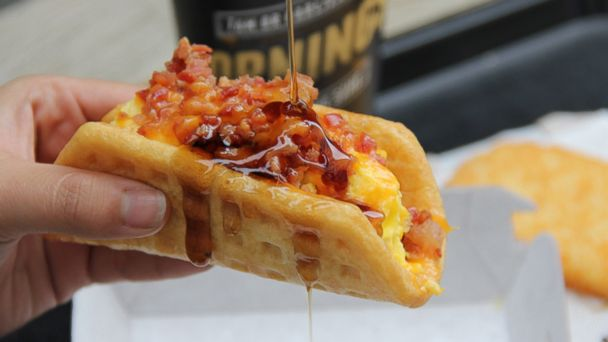 HT tacobell waffle taco crop mar 140224 16x9 608 Taco Bell Breaks Out of Shell With New Morning Menu