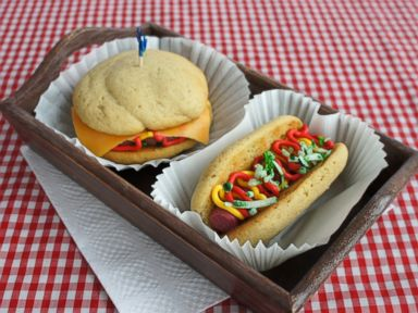 PHOTO: Tastemades hot dog and cheeseburger whoopie pies.