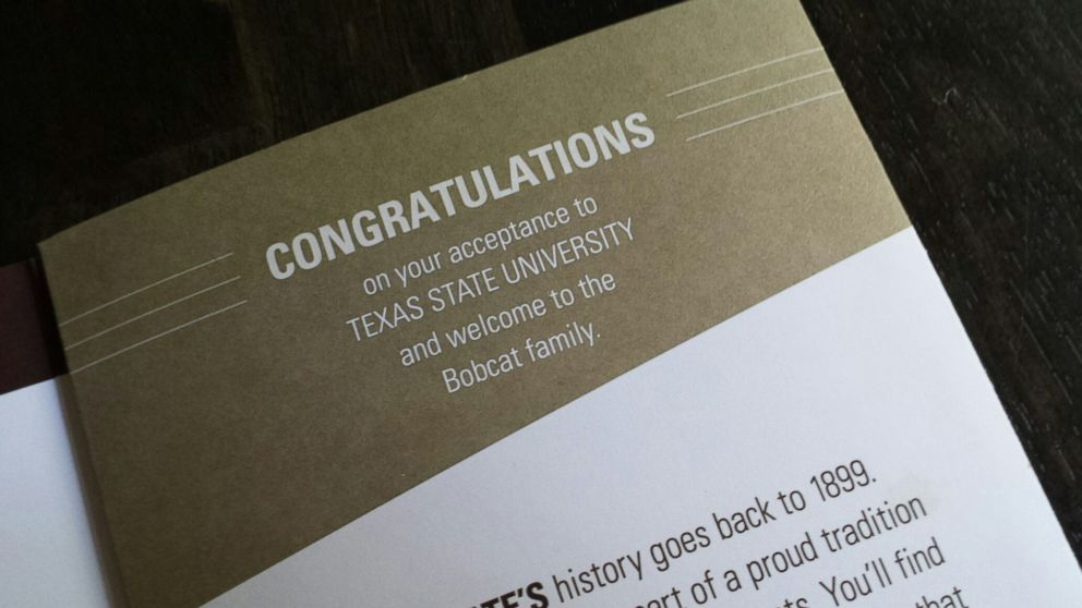 Texas State University Mistakenly Sends Acceptance Brochures