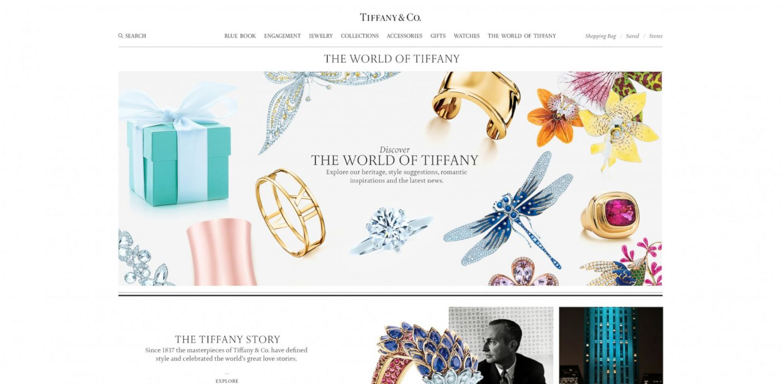 PHOTO: The World of Tiffany page on the new Tiffany.com