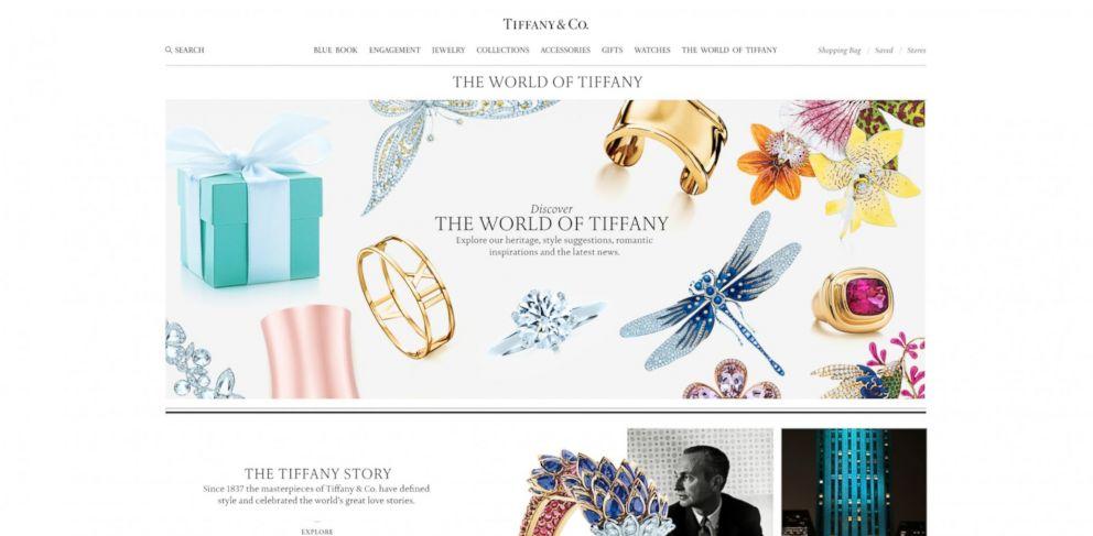 PHOTO: The World of Tiffany page on the new Tiffany.com