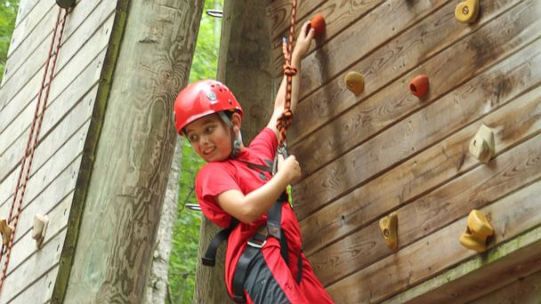 PHOTO: During the summer, campers at Timber Lake Camp in Shandaken, N.Y. can engage in the high ropes course and low ropes course among other activities.