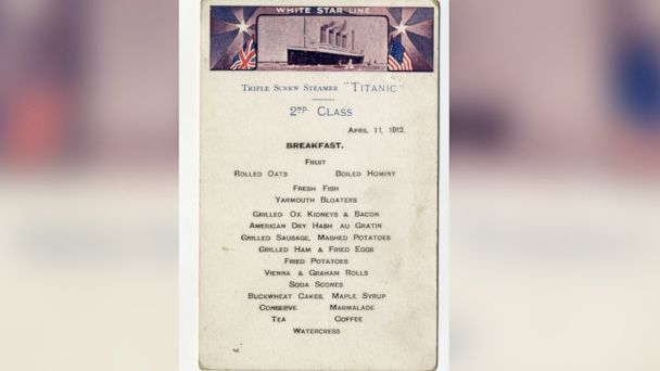 HT titanic front size mar 140423 16x9 608 Never Before Seen Titanic Menu Up For Auction